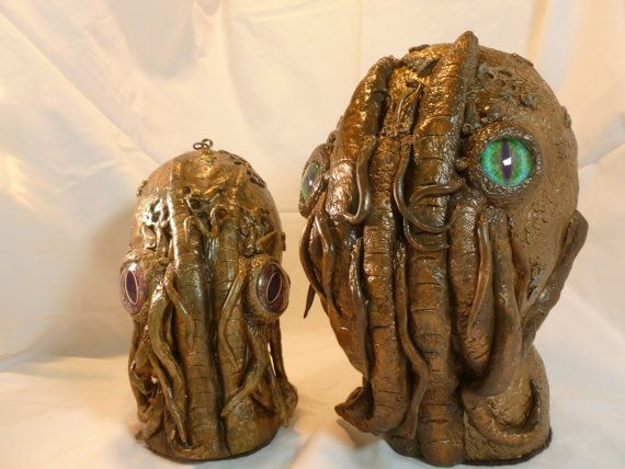 Lovecraft's Cthulhu 8 treasure boxREADY TO by PrissyKittyDesigns