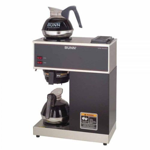 """BUNN 2-Cup Pourover Commercial Coffee Brewer w/2 Warmers (Silver and Black) (20.7""""H x 16.2""""W x 8""""D) by Englewood Marketing Group. $339.00. Two separately controlled warmers. Internal components are constructed from stainless steel. Color: Silver and Black. Size: 20.7""""H x 16.2""""W x 8""""D. BUNN 2-Cup Pourover Commercial Coffee Brewer w/2 Warmers by Englewood Marketing Group is the preferred beverage equipment provider for fine restaurants and other food service establis..."""