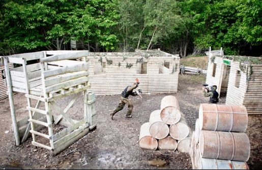 I'd love a paintball arena in our backyard!