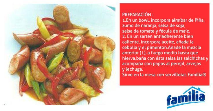 Un almuerzo f cil y r pido para compartir en familia salchichas en salsa agridulce tips - Almuerzo rapido y facil ...