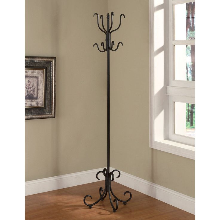 Coaster Furniture Black Metal Standing Coat Rack - 900863