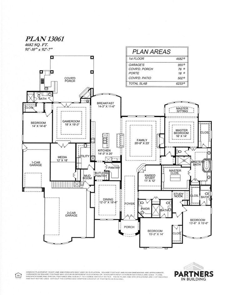 17 best home floorplans dream homes images on pinterest for Custom dream home floor plans