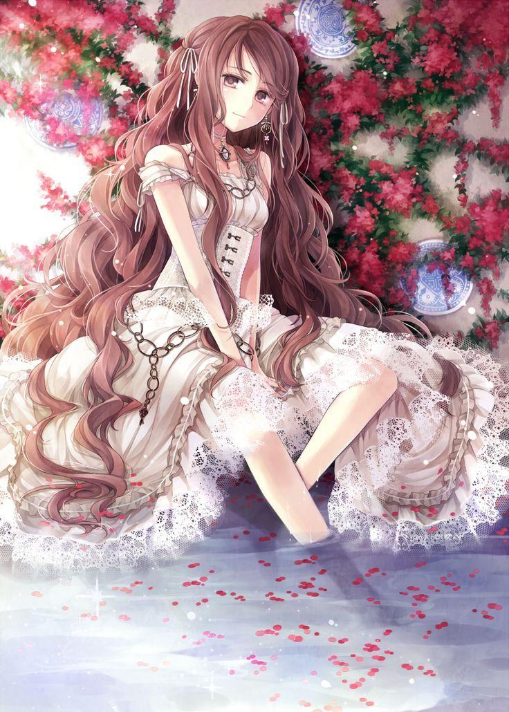 Anime Girl With Curly Brown Hair Recherche Google 애니