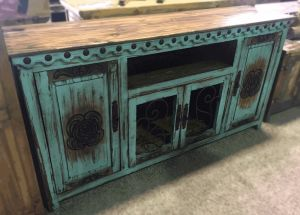 TURQUOISE DIEGO TV STAND | Builder Bob's Home Improvement Center