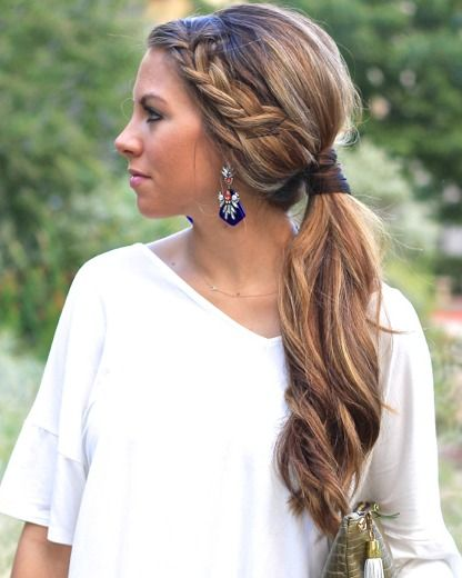 Fabulous 1000 Ideas About Side Ponytail Prom On Pinterest Curly Side Short Hairstyles For Black Women Fulllsitofus