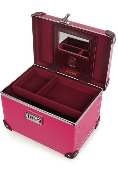 """Globe-Trotter - Candy 13"""" Leather-trimmed Fiberboard Vanity Case - Fuchsia - one size"""