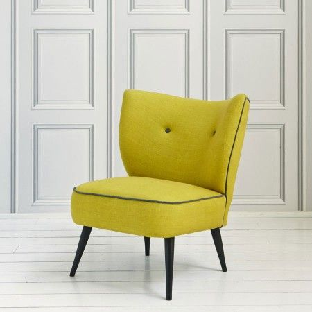 Alpana Cocktail Chair in Yellow - Sofas, Armchairs & Footstools - Furniture g