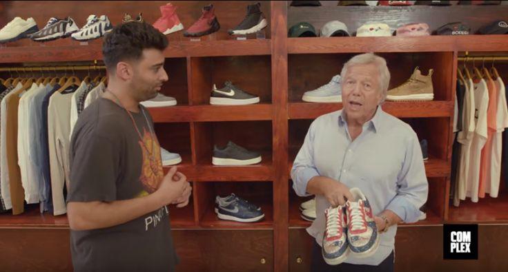Sneaker+Shopping+At+Bodega+With+Patriots+Owner+Robert+Kraft