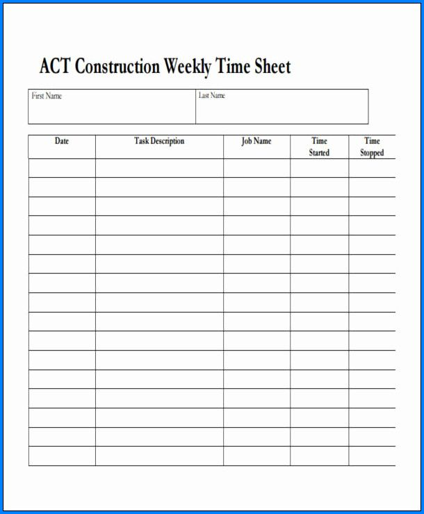 Independent Contractor Timesheet Template Timesheet Template Card Template Printable Business Cards