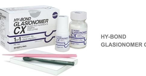 Packaging :Hy-Bond Glaslonomer CX 1-1 Set Contains:  Powder 45gm & Liquid 25ml [PN 1190], Mixing Pad, Spatula  http://dentalmart.in/glass-ionomer-luting-cements/390-cx-plus-glasionomer-type-i-luting-cement.html#