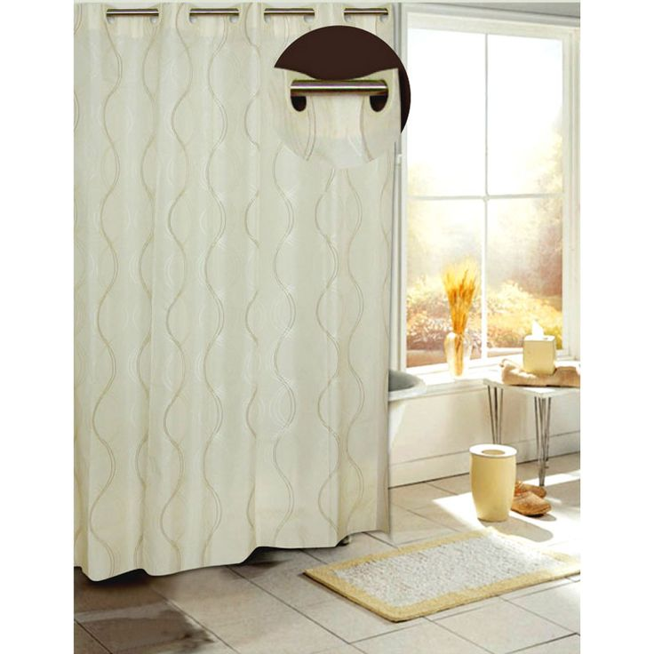 1000 images about neutral shower curtains for every for Master bathroom curtains
