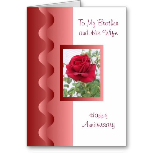The 20 Best Brother And Wife Wedding Anniversary Cards Images On