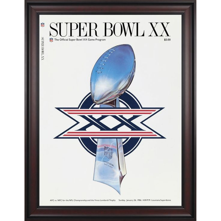 "Fanatics Authentic 1986 Bears vs. Patriots Framed 36"" x 48"" Canvas Super Bowl XX Program"