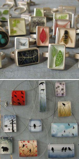 resin jewelry: fernworks, renegade craft fair san francisco