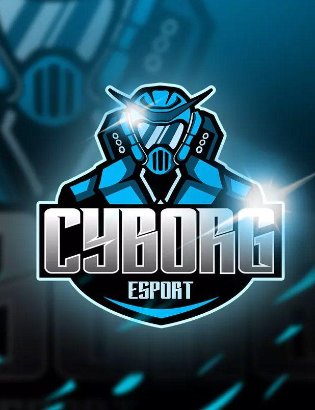 Cyborg Blue Mascot Esports Logo By Aqrstudio On Envato Elements Esports Logo Logo Templates Sports Team Logos