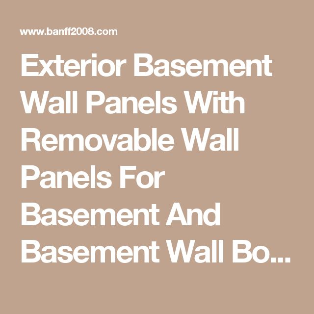Exterior Basement Wall Panels With Removable Wall Panels For Basement And Basement Wall Board Insulation Also Interior Basement Wall Panels Plus Prefinished Basement Wall Panels The Simple Idea about the Basement Wall Panels Basement basement wall drainage systems ideas vs drywall | Banff2008