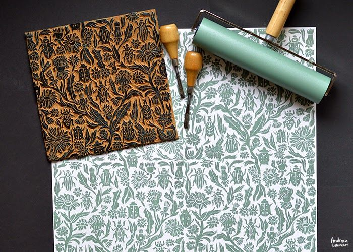 CREATING A REPEATING BLOCK PRINT PATTERN BY ANDREA LAUREN
