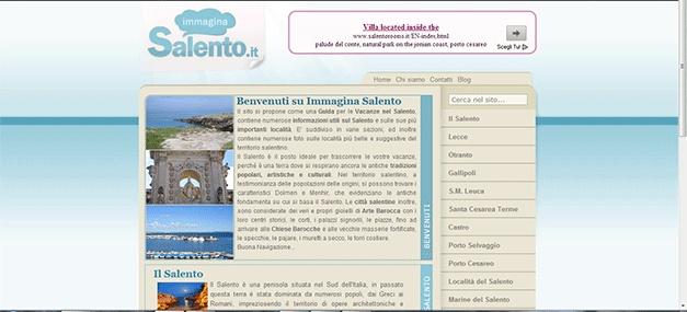 Redazione di alcuni testi ed articoli per www.immaginasalento.it