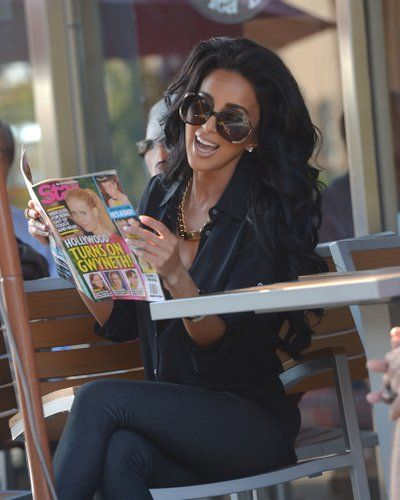 Lilly Ghalichi in all black