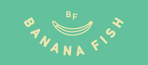 banana fish logo designs