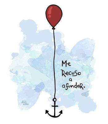 Arte ME RECUSO AFUNDAR de Flávio Wetten   Life On A Draw! Desenhos | Disponível em camiseta e poster. Só na @toutsbrasil