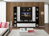 Модульная стенка Домино со теллажами от интернет магазина мебели  1mmtk.ru
