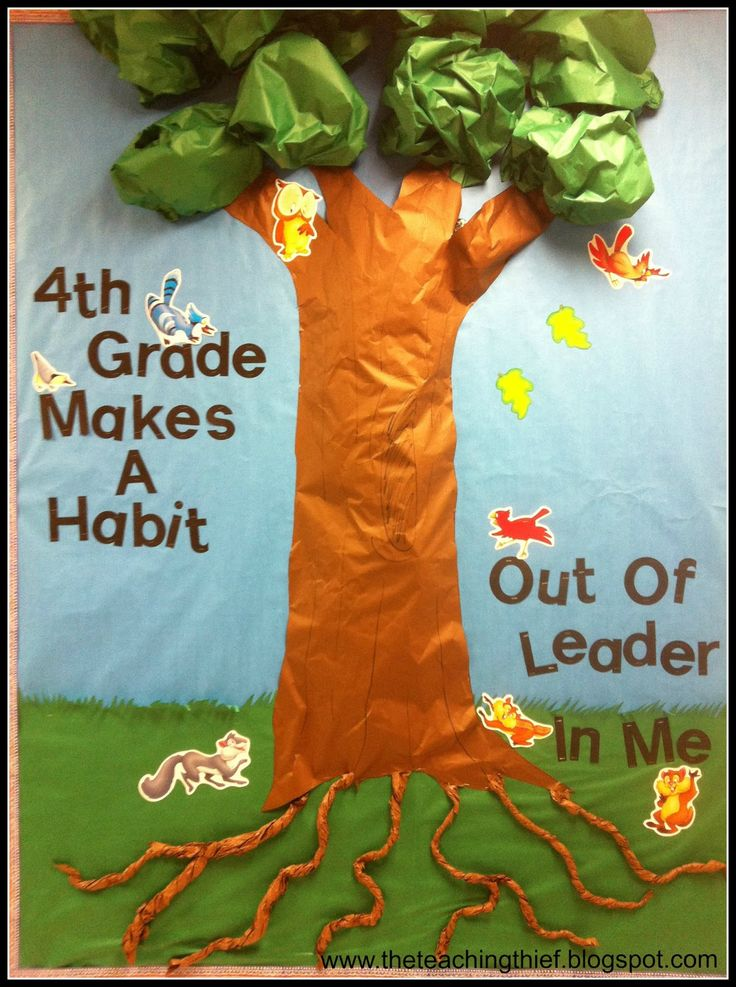 4th Grade 7 Habits Hallway Bulletin Board