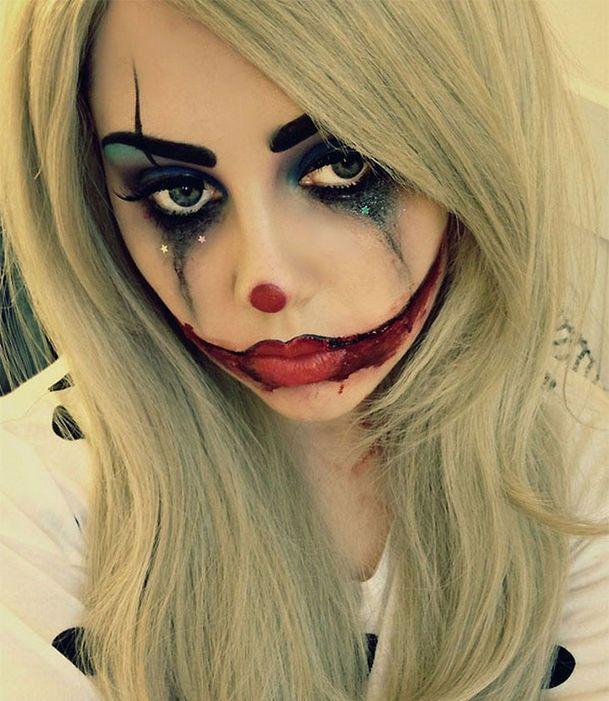 Un maquillaje de payaso decaído para Halloween