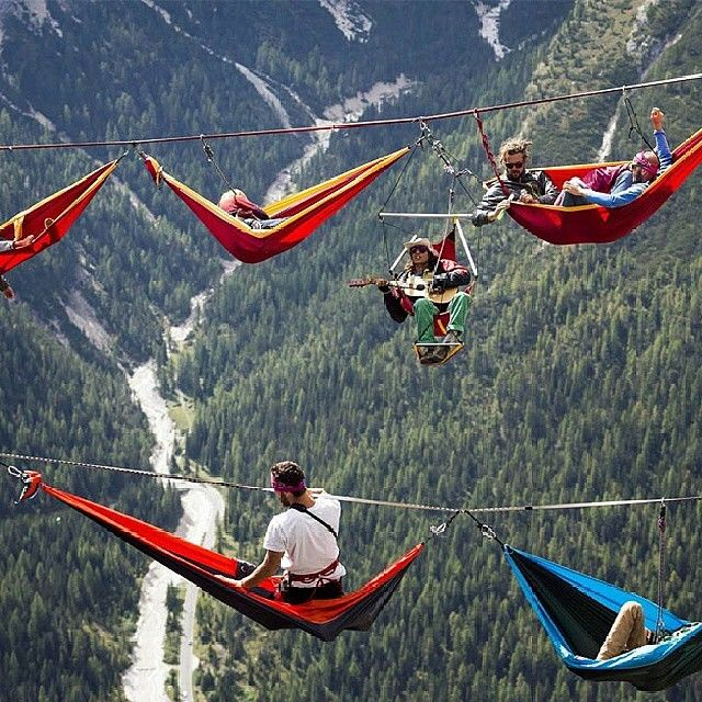 Highline Meeting, Italian Alps #EarthPix Photo by @MostExtremePictures