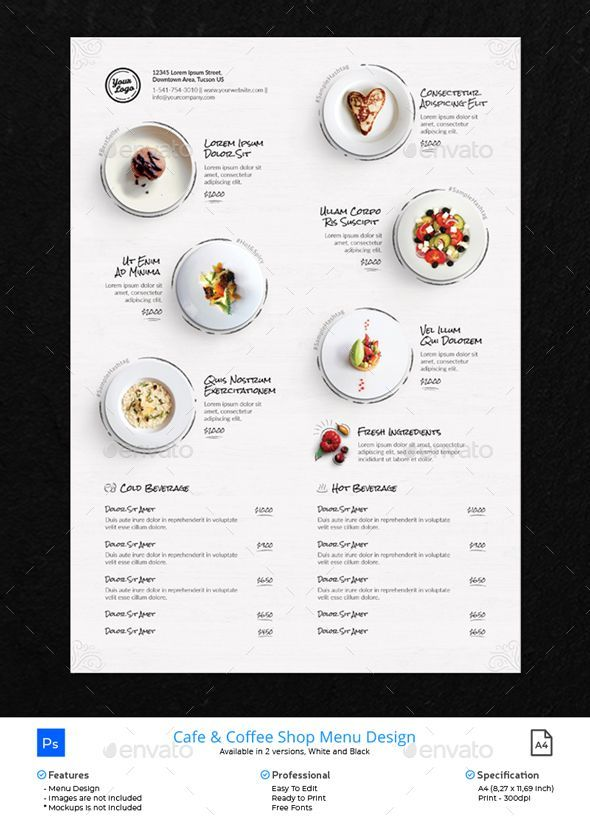 Epingle Sur Restaurant Menu Design