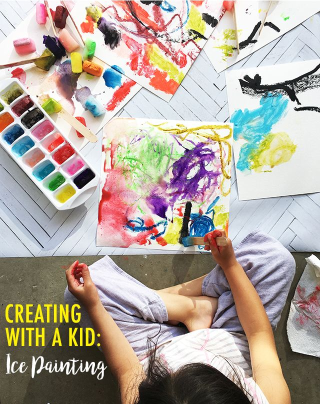 alisaburke: creating with a kid- ice painting