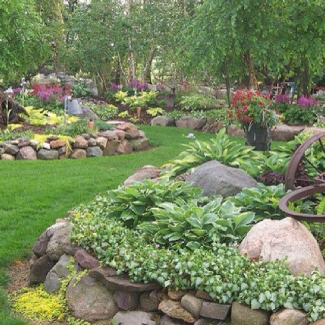 17 best images about rock garden ideas on pinterest for Rock garden designs shade