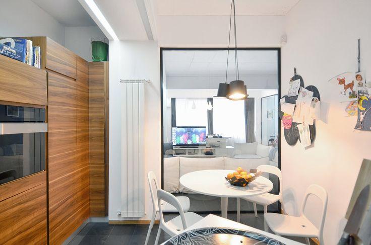 Apartment in Bucharest  - #interior #interiordesign #kitchen #living #lifestyle #housing #residential #white #slate  #urban #architecture #apartment #relax #hat