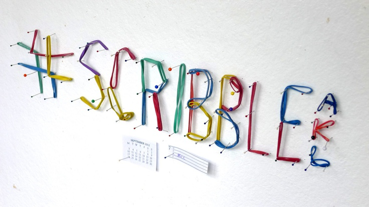 #scribbleAKL no.52 flyer by @creativeBhav      Made with pins and rubber bands.