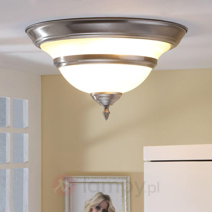 Szklana lampa sufitowa HECTORIA, satynowany nikiel 9620588