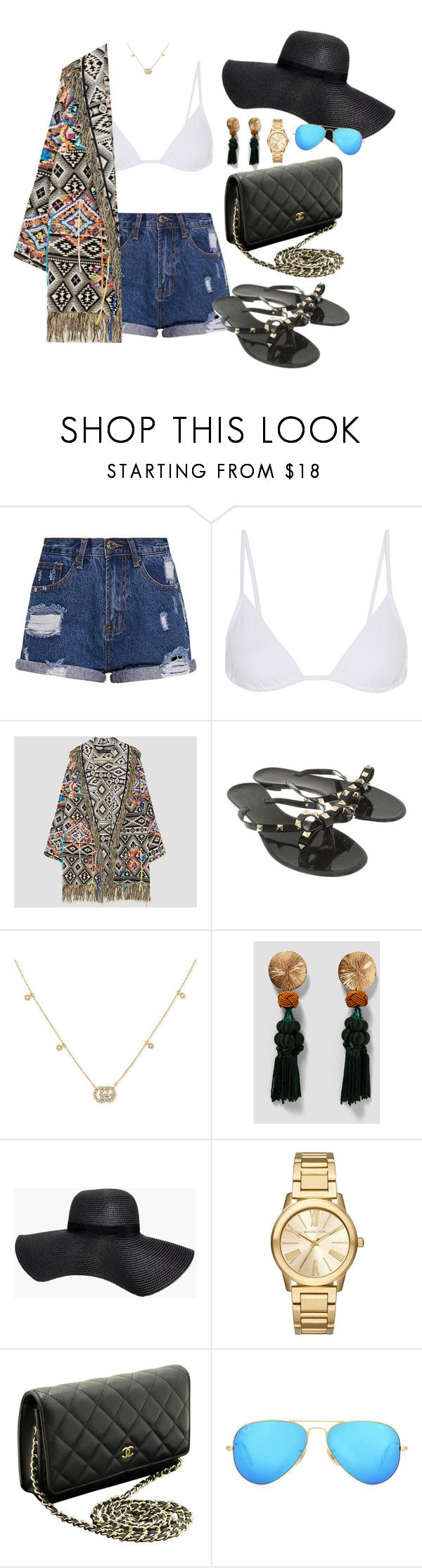 """""""Bikini 55"""" by caa123 ❤ liked on Polyvore featuring Eres, Valentino, Gucci, Boohoo, Michael Kors, Chanel and Ray-Ban"""
