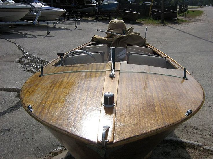 1950 14 foot Cadillac marine runabout | boats | Pinterest | Wooden boats, Cadillac and Boating