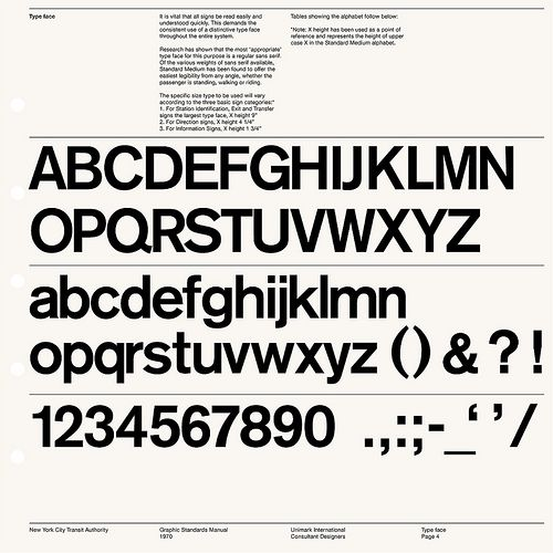 New York Transit Authority / Graphic Standard Manual / 1966