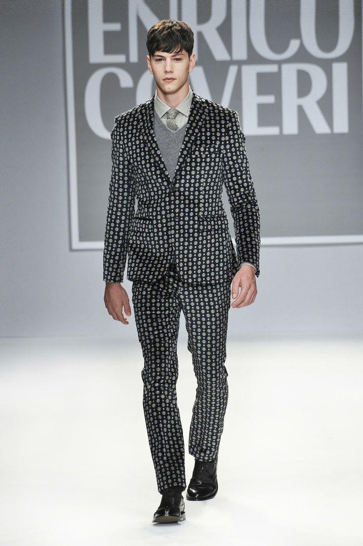 Enrico Coveri F/W 2013 2014 #suit #Coveri #tieprint