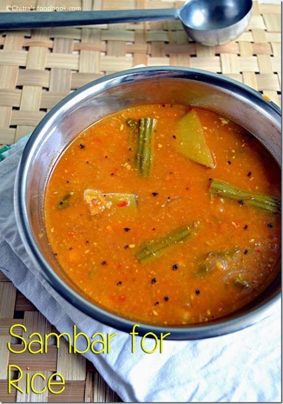Sambar recipe for rice