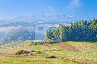 Fototapeta Widok z Spisza po Tatry. Piękny krajobraz.