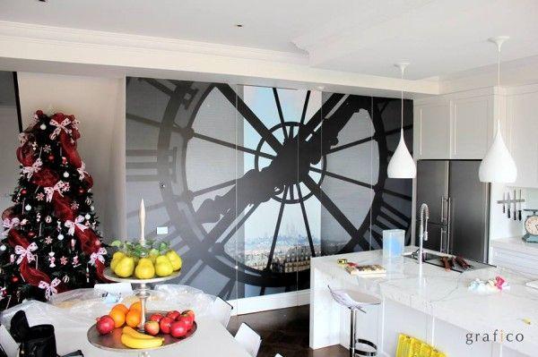 Custom Digital Print Wallpaper - Paris Clock Tower