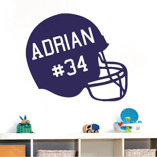Awesome Customizable Football Helmet Wall Appliqué Design Inspirations