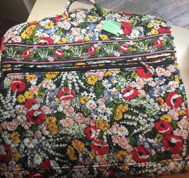 nice Vera Bradley GARMENT BAG NWT Poppy Fields Floral Retired (MSRP $130.00) Baggage