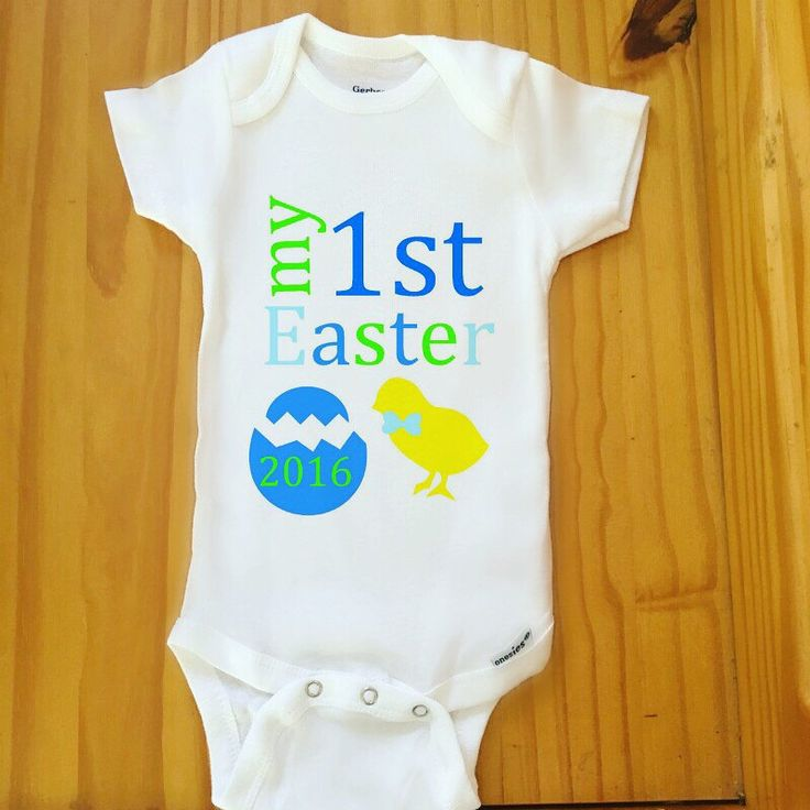 First Easter Onesie, First Easter Bodysuit For Baby Boy by HannasHandmadeHobby on Etsy https://www.etsy.com/listing/269503313/first-easter-onesie-first-easter
