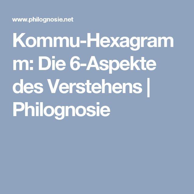 Kommu-Hexagramm: Die 6-Aspekte des Verstehens   Philognosie
