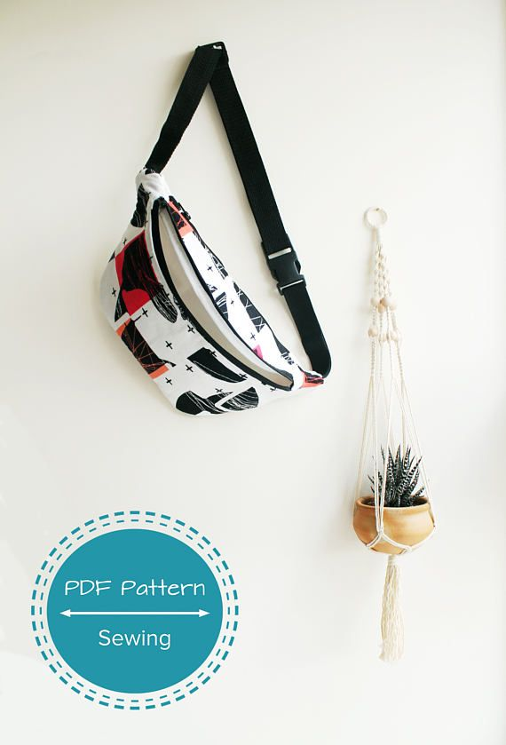 fanny pack festival bag waist bag sewing pdf pattern