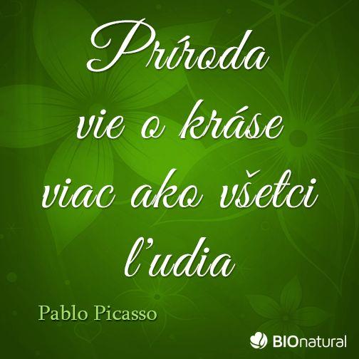 Citát o prírode od Pabla Picassa #citaty