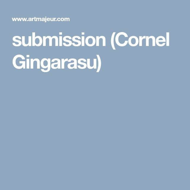 submission (Cornel Gingarasu)