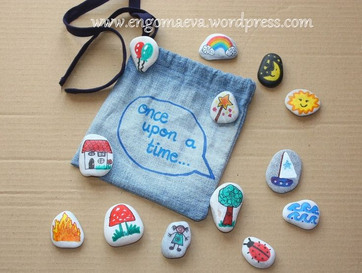 """DiY, Storytelling with stones:  """"Once upon a time ..."""""""
